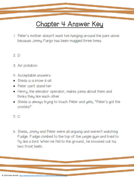 Tales of a Fourth Grade Nothing Chapters 1-5