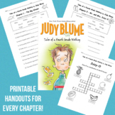 Tales of a Fourth Grade Nothing - Printable handouts for e