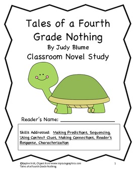 Tales of a Fourth Grade Nothing Classroom Novel Study