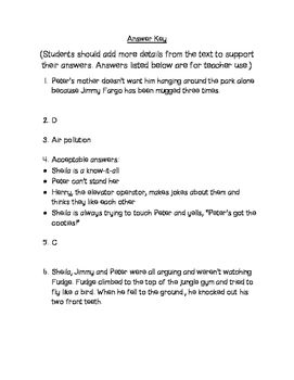 Tales of a Fourth Grade Nothing Comprehension Questions  Chapter 4