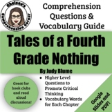 Tales of a Fourth Grade Nothing Comprehension Questions and Vocabulary Guide