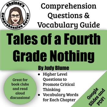 Tales of a Fourth Grade Nothing Comprehension Questions an