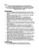 Tales of a Fourth Grade Nothing Culminating Activities