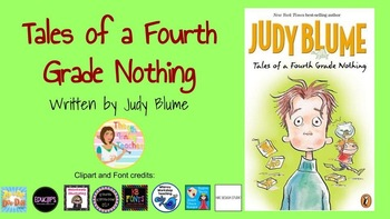 Tales of a Fourth Grade Nothing - Digital Resource for Google Classroom