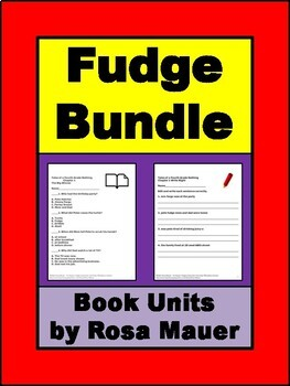 Tales of a Fourth Grade Nothing Fudge Novel Study Bundle