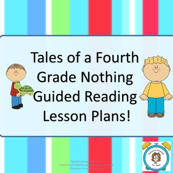 tales of a fourth grade nothing guided reading lesson plans for the rh teacherspayteachers com Emergent Guided Reading Lesson Plan Template Guided Reading Group Lesson Plans