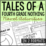TALES OF A FOURTH GRADE NOTHING Novel Study Unit Activities | Book Report