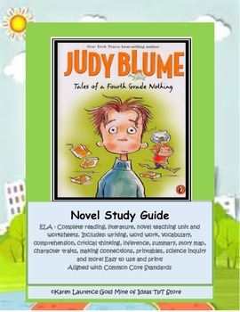 Tales of a Fourth Grade Nothing Judy Blume ELA Novel Study Guide