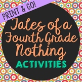 Tales of a Fourth Grade Nothing Novel Unit Study Activitie