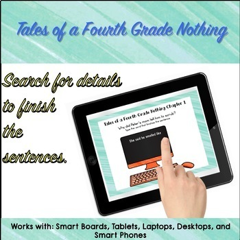 Tales of a Fourth Grade Nothing Digital Self-Checking Google Drive Novel Study