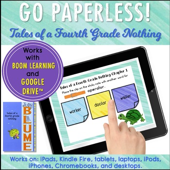 Google Classroom™ Tales of a Fourth Grade Nothing Digital Novel Study