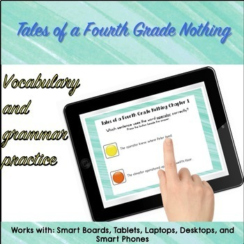 Google Classroom™ Tales of a Fourth Grade Nothing SELF CHECKING CHAPTER 1