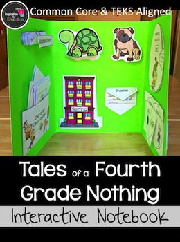 Tales of a Fourth Grade Nothing Novel Study: Lap Book