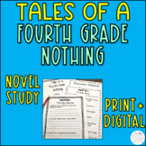 Tales of a Fourth Grade Nothing Novel Study Printable & Digital