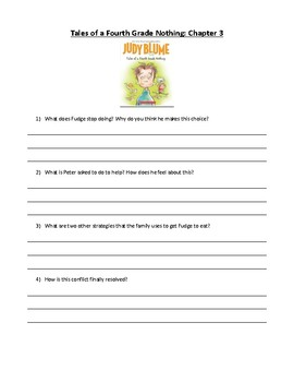 Tales of a Fourth Grade Nothing Novel Study: SEL Learning