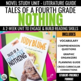 Tales of a Fourth Grade Nothing Novel Study Unit