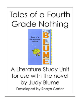 Tales of a Fourth Grade Nothing Novel Study Unit (editable)