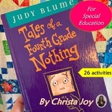 Tales of a Fourth Grade Nothing Novel Study for Special Education