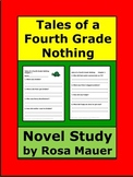 Tales of a Fourth Grade Nothing Novel Study Comprehension Questions Chapter Quiz