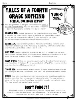book report for tales of a fourth grade nothing Book report form tales of a fourth grade nothing book report form (pdf file)  customize the tales of a fourth grade nothing book report.