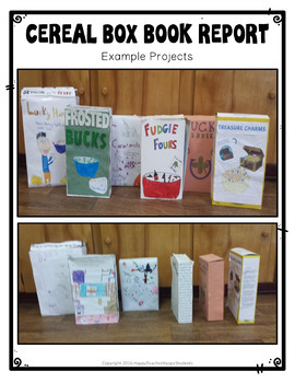 Cereal Box Book Report Sample | Tales Of A Fourth Grade Nothing Project Cereal Box Book Report Activity