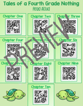 Tales of a Fourth Grade Nothing QR Codes