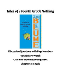 Tales of a Fourth Grade Nothing Questions, Vocabulary, and Quiz