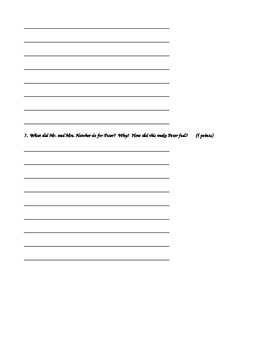 Tales of a Fourth Grade Nothing Quiz Chapters 9-10