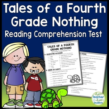 Tales Of A Fourth Grade Nothing Test Final Book Quiz With Answer Key