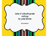Tales of a Fourth Grade Nothing Text Questions