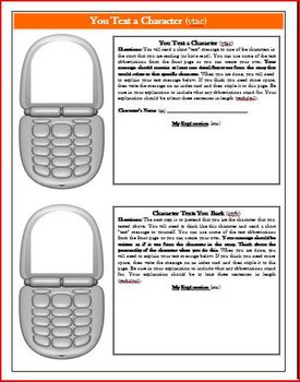 Tales of a Fourth Grade Nothing Texting Reading Activity