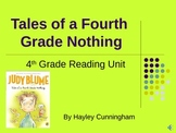 Tales of a Fourth Grade Nothing Unit Plan