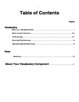 Tales of a Fourth Grade Nothing Vocabulary Study