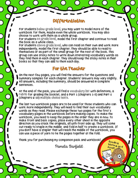 Tales of a Fourth Grade Nothing Workbook and Teacher Companion Pack
