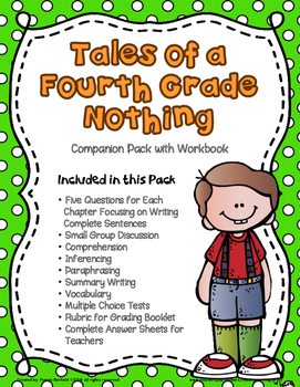 Tales of a Fourth Grade Nothing Workbook and Teacher Compa