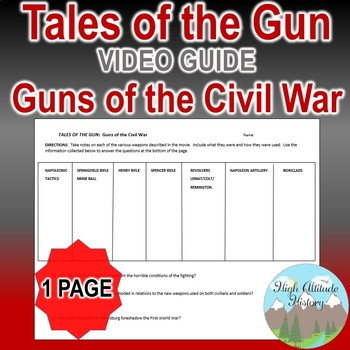 Tales of the Gun: Guns of the Civil War Original Video Guide Graphic Organizer