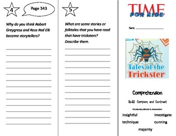 Tales of the Trickster Trifold - Treasures 3rd Grade Unit