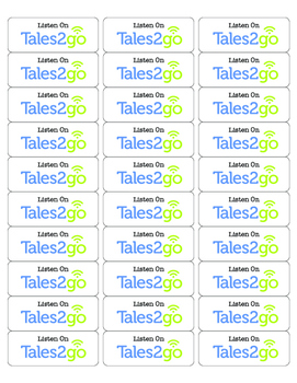Tales2go Labels for Physical Books- Follow Along!