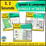 Articulation Carryover and Language Activities Bundle   S and Z   Speech Therapy