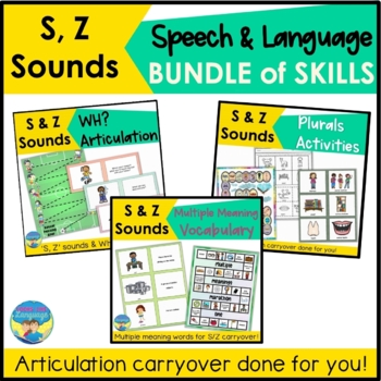 Articulation & Language Games:100+ Picture Cards for 'S' Sounds
