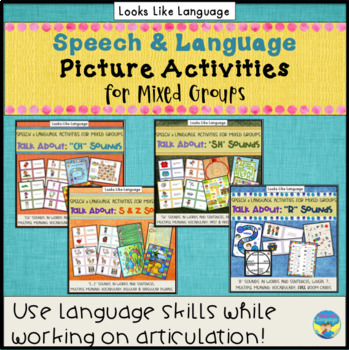 Speech/Language Therapy Picture Activities & Games - R, S, SH and CH Words