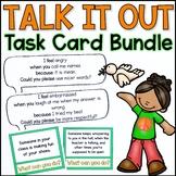 Talk It Out I-Message Task Card Bundle