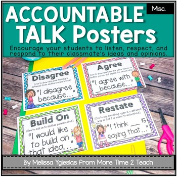 Talk It Up! (polka dots) Accountable Talk/ Collaborative Conversation Posters