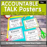 Talk It Up! (Chevron) Accountable Talk/ Collaborative Conversation Posters