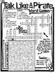 Talk Like A Pirate Worksheet - Word Search Crossword