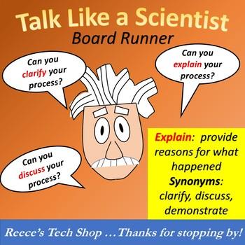 Talk Like A Scientist Board Runner OR Bulletin Board Set