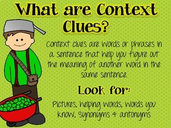 Fall Context Clue Activity (Johnny Appleseed)