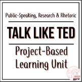 Public Speaking PBL Unit: Talk Like TED - with Research Writing & Rhetoric