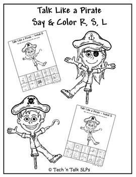 Talk Like a Pirate, Color & Say - R, S, L