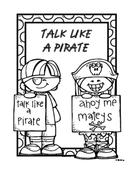 Talk Like a Pirate Coloring Sheet